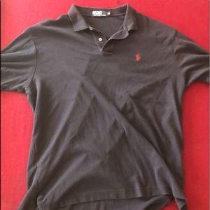 BLACK ralph lauren polo t shirt XL